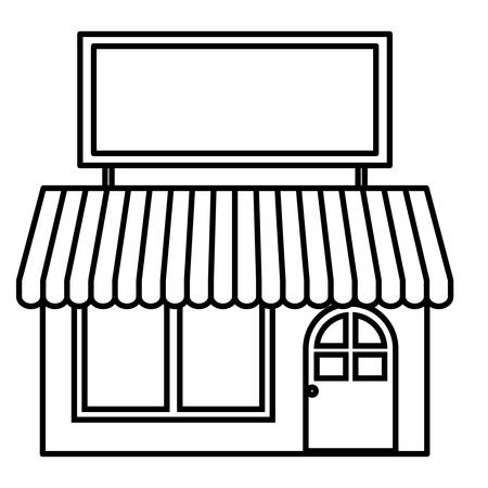 Small store icon. Shop retail market and business theme. Isolated design. Vector illustration