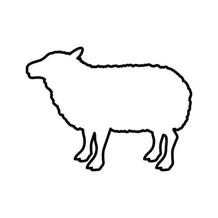Lamb icon. Livestock animal life nature and fauna theme. Vector illustration