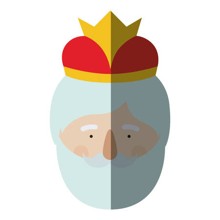 nativety: Wiseman cartoon icon. Happy epiphany day holy night and christmas theme. Colorful design. Vector illustration