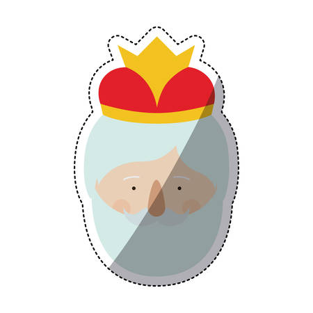 holy night: Wiseman cartoon icon. Happy epiphany day holy night and christmas theme. Colorful design. Vector illustration