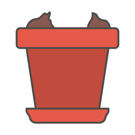Pot icon. Gardening nature green and home theme. Isolated design. Vector illustration