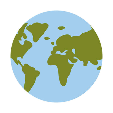 Planet sphere icon. Earth world and globe theme. Isolated design. Vector illustration Illustration