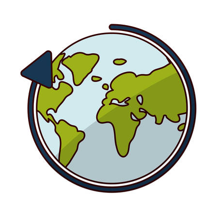 World sphere icon. Delivery shipping logistic and distribution theme. Isolated design. Vector illustration Illustration