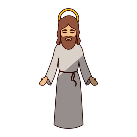 nativety: Jesus cartoon icon. Holy night family christmas and betlehem theme. Isolated design. Vector illustration