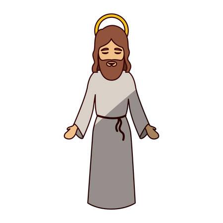 Jesus cartoon icon. Holy night family christmas and betlehem theme. Isolated design. Vector illustration