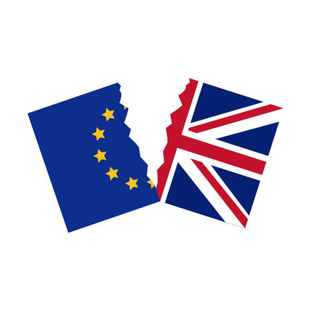 england politics: Brexit flag icon. European union eu europe nation and government theme. Isolated design. Vector illustration Illustration