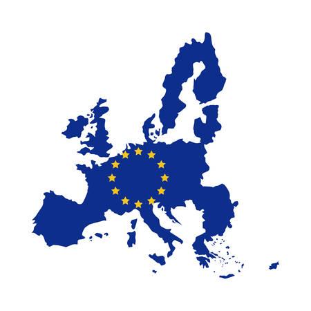 european culture: European union map icon. Europe eu country national and politics theme. Isolated design. Vector illustration