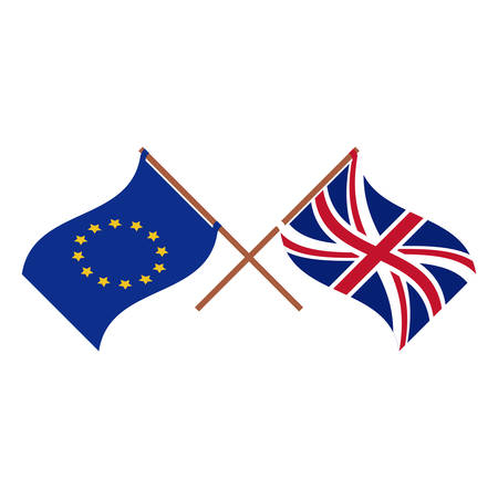 Brexit flag icon. European union eu europe nation and government theme. Isolated design. Vector illustration Illustration
