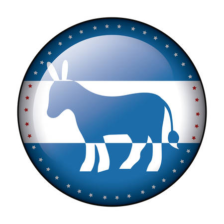 conscientious: donkey icon. Vote president election government  and campaign theme. Isolated design. Vector illustration