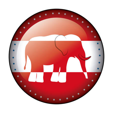 Elephant icon. Vote president election government  and campaign theme. Isolated design. Vector illustration Illustration