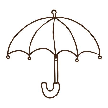 umbrella rain accessory icon over white background. draw design. vector illustration