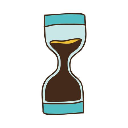 cronometro: icono de dispositivo de tiempo de reloj de arena sobre fondo blanco. dibujar el diseño. ilustración vectorial