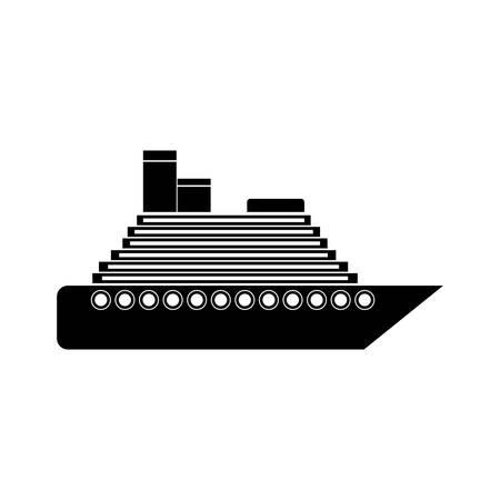 transporter: sailboat icon over white background. transportation vehicle design. vector illustration Illustration