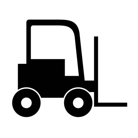 montacargas: lift truck over white background. under construction machinary design. vector illustration Vectores