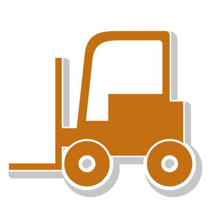 fork lifts trucks: lift truck over white background. under construction machinary design. vector illustration Illustration