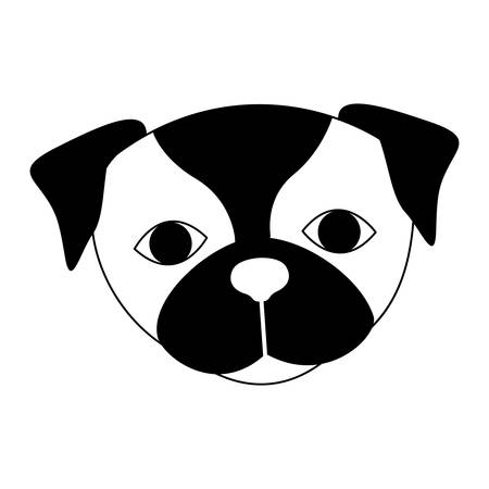 pug dog: cute pug dog animal icon over white background. vector illustration Illustration