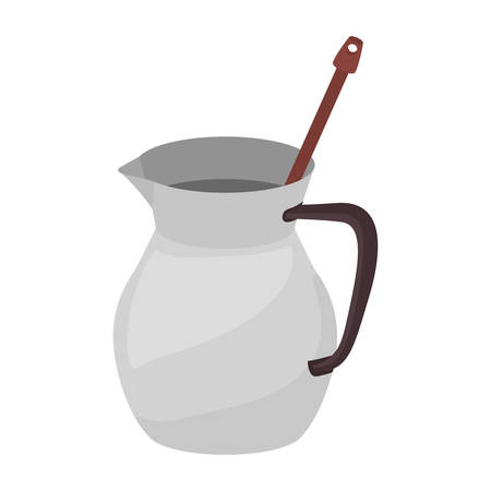 carbohydrate: full color with jug chocolate and beater vector illustration