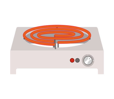 full color with electric stove mode on vector illustration Illustration