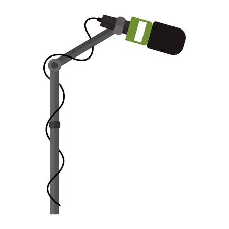 microphone stand: microphone stand with green support vector illustration Illustration