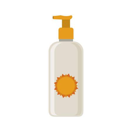 Silhouette mit kleinen Flasche Sonnenschutz Vektor-Illustration Vektorgrafik