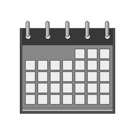 days: silhouette with calendar days blank vector illustration Illustration