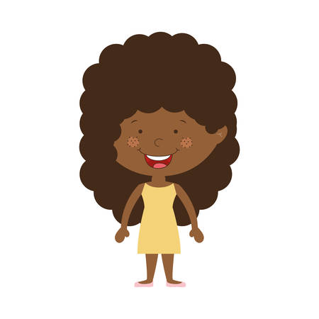cheek: silhouette afro girl with dress vector illustration Illustration