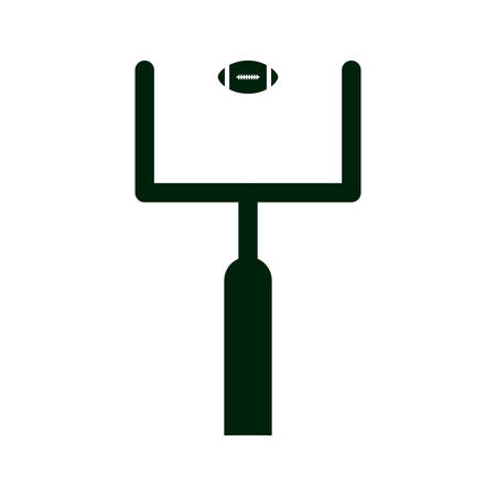goal post': american football goal post and ball icon over white background. vector illustration