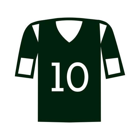 number ten: american football shirt sport equipment with number ten over white background. vector illustration Illustration