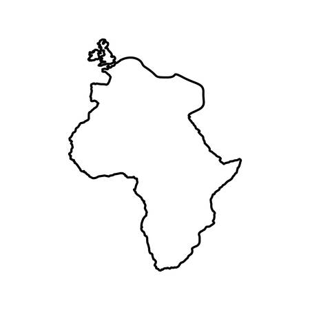 scrawl: silhouette of africa continent icon. world map design. vector illustration