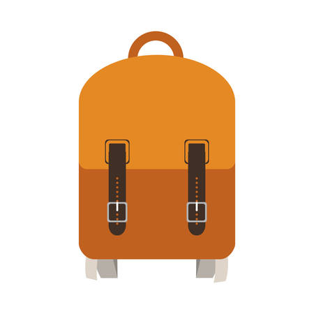 school backpack icon over white background. vector illustration