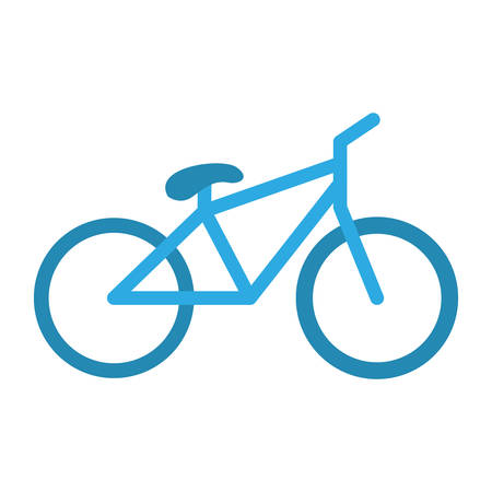 blue bicycle vehicle icon over white background