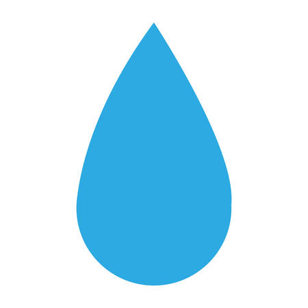 pure element: blue water drop icon over white background