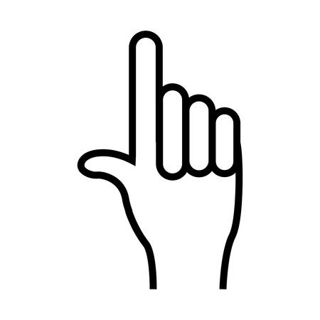 index finger up  hand gesture icon image illustration design