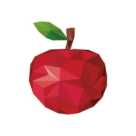 market gardening: apple fruit mosaic icon image illustration design Illustration