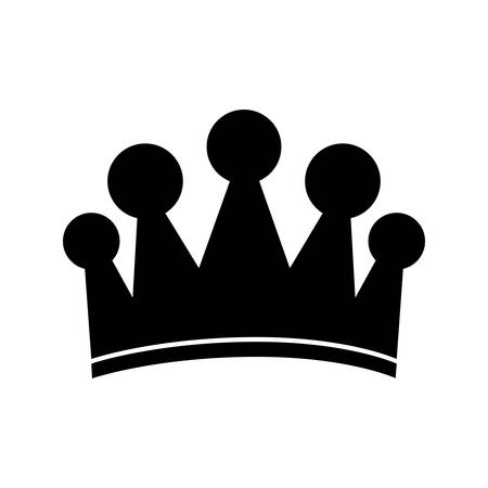 the aristocracy: royal crown icon image vector illustration design Illustration