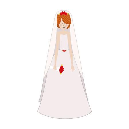 cartoon bride icon image vector illustration design