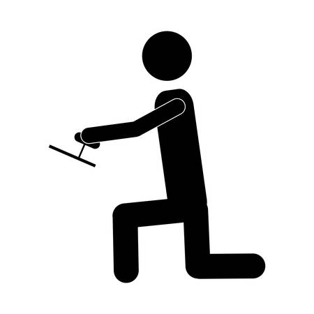 handy man: handy man or engineer icon image vector illustration design  design