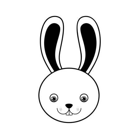 rabbit or bunny icon image vector illustration design Illustration