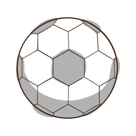 recreational: football soccer ball icon image vector illustration design