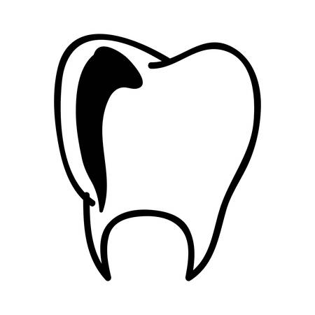 tooth medical icon image vector illustration design