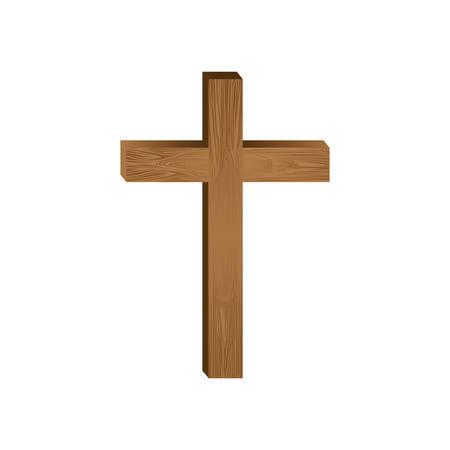 crocifisso immagine cristiana o cattolica icona del design illustrazione vettoriale