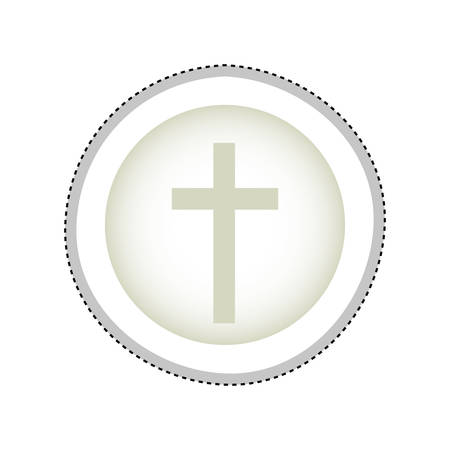 worship praise: crucifix christian or catholic icon image vector illustration design Illustration