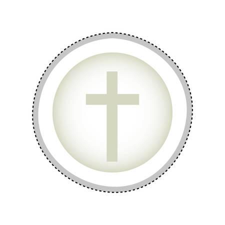 praise and worship: crucifix christian or catholic icon image vector illustration design Illustration