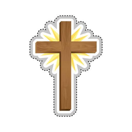 crucifix christian or catholic icon image vector illustration design Illustration