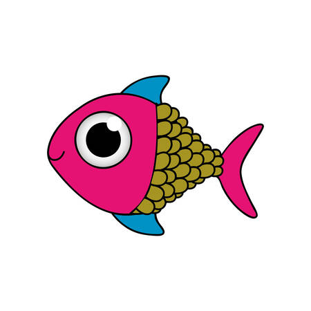 fish cartoon icon image vector illustration design