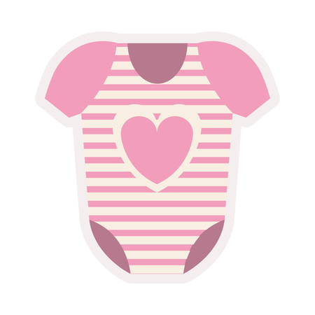 pink costume for baby girl vector illustration