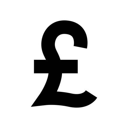 cost savings: silhouette with currency symbol of sterling pound in black vector illustration