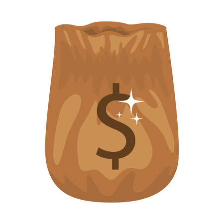 opened bag: silhouette of bag opened with money vector illustration