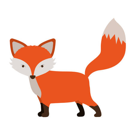 Fox icon. Animal cartoon and nature theme. Isolated and drawn design. Vector illustration