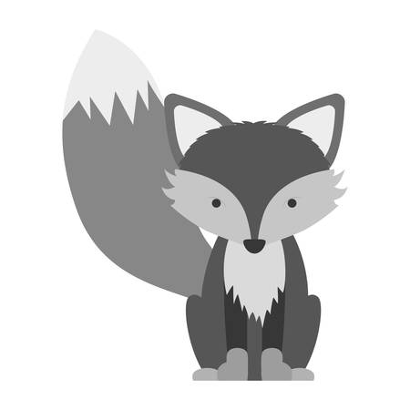reserve: silhouette of Fox icon. Animal cartoon and nature theme. Isolated and drawn design. Vector illustration Illustration